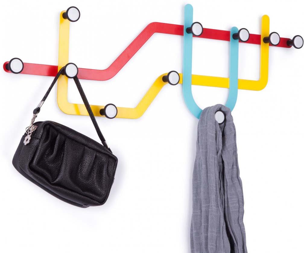 Вешалка Umbra Subway, цвет: мульти, 10 крючков вешалка настенная umbra 57 5х20 5 см subway 318187 370