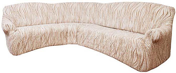 Чехол на угловой диван Еврочехол Виста, 380-550 см