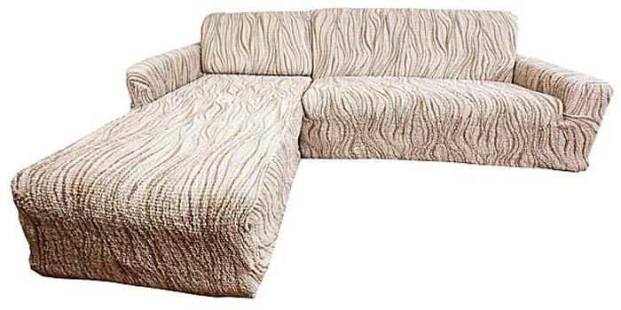 Чехол на угловой диван Еврочехол Виста. Элегант, левый угол, 300-450 см