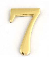 Цифра для обозначения номера квартиры 7, цвет: золотистый berlingo бумага для заметок c клеевым краем 7 6 х 7 6 см цвет зеленый 100 листов