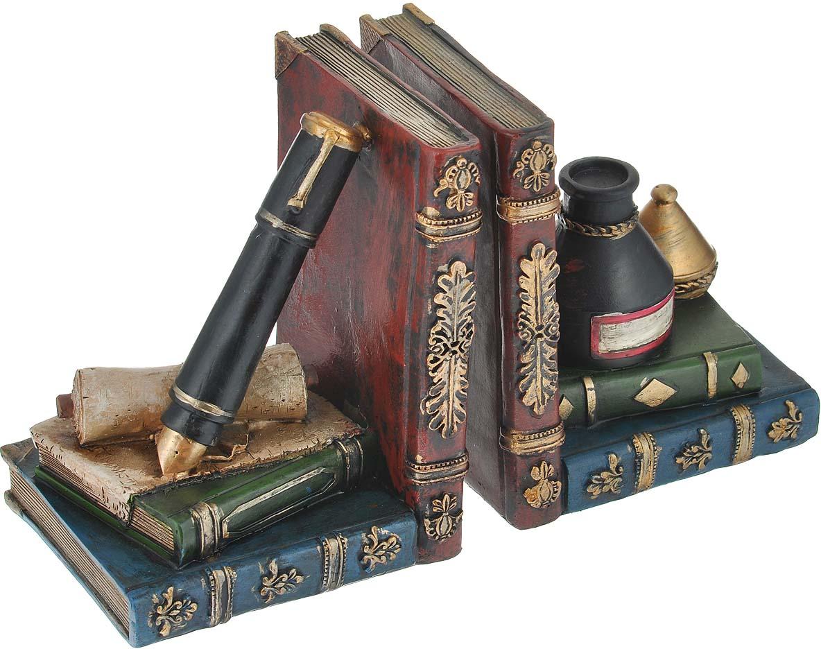 Декоративная подставка-ограничитель для книг Феникс-презент Алхимия, 2 шт подставка ограничитель для книг штурман 2 шт