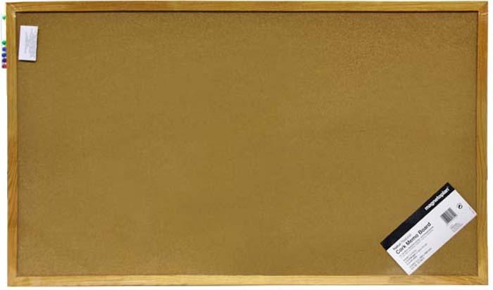 Доска пробковая  Magnetoplan , с деревянной рамкой, 100 см х 60 см