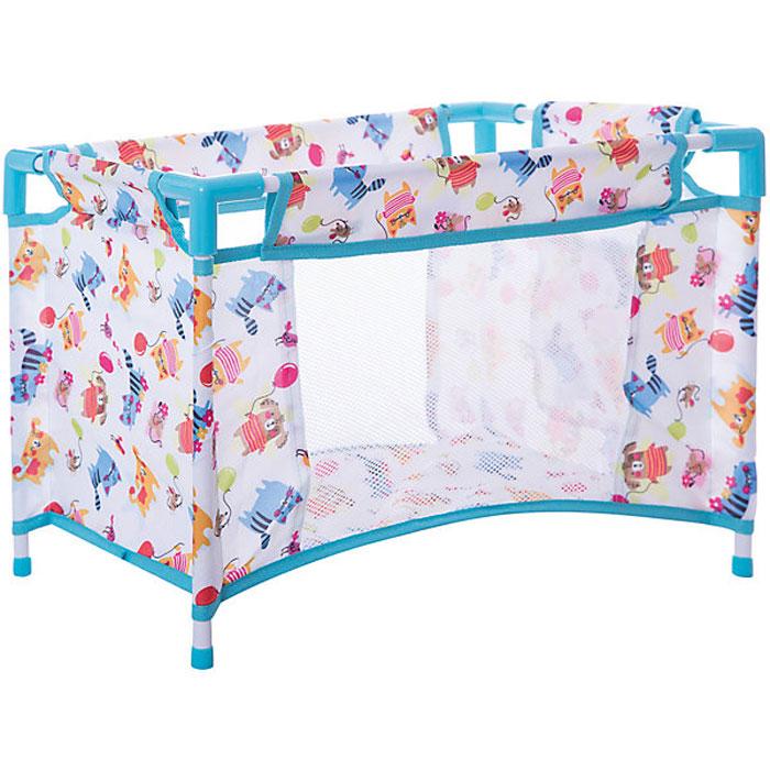 Mary Poppins Кроватка для кукол Фантазия цвет голубой кроватка для кукол огонек кроватка розовая с 1426