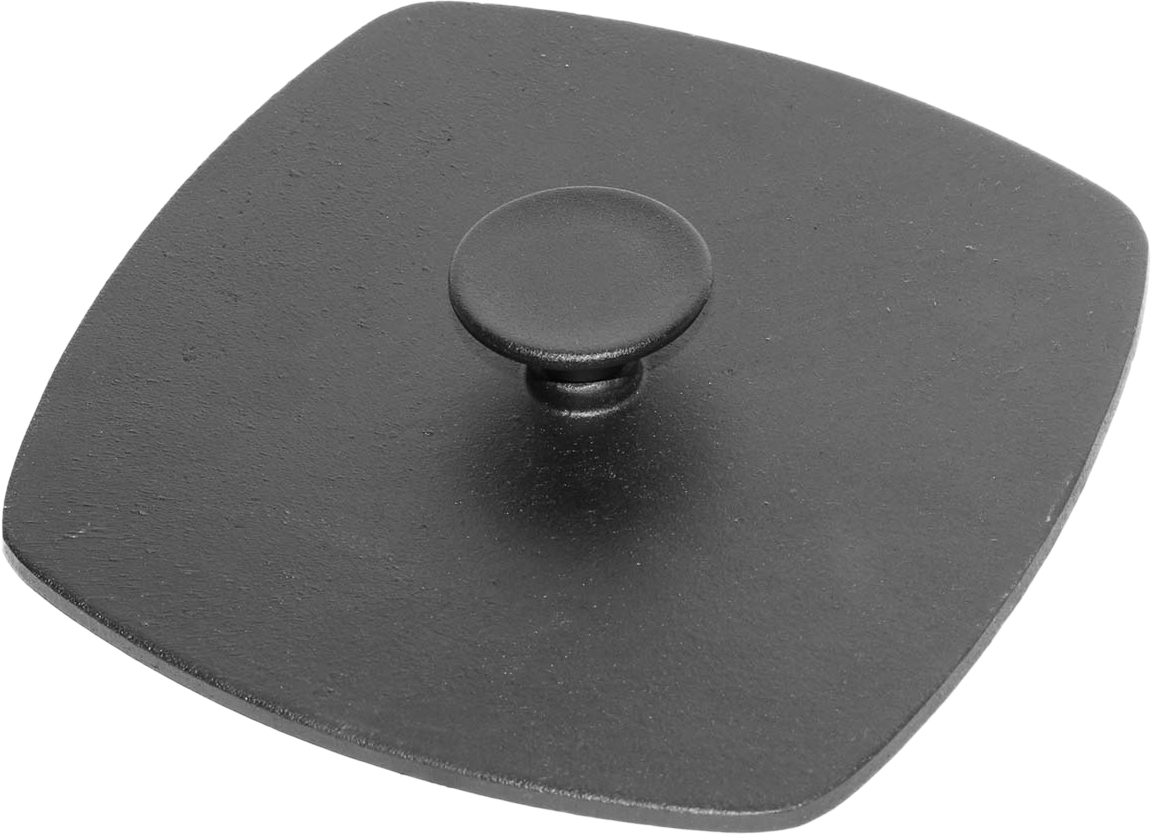Крышка-пресс чугунная Биол, 21 х 21 см крышка пресс для жарки нева гнет диаметр 23 см