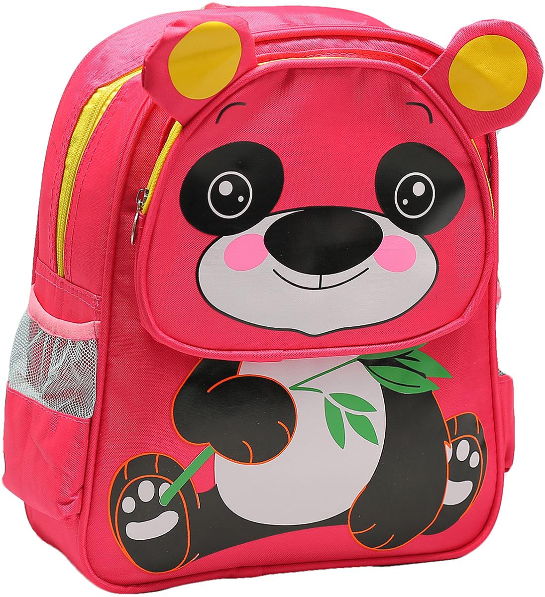 Рюкзак детский Панда цвет розовый 16611941661194Маленькие, казалось бы, незначительные элементы зачастую завершают, дополняют образ, подчеркивают статус, стиль и вкус своего обладателя. Рюкзак - одна из подобных деталей. Это вещь достойного качества, которая может стать прекрасным подарком по любому поводу.
