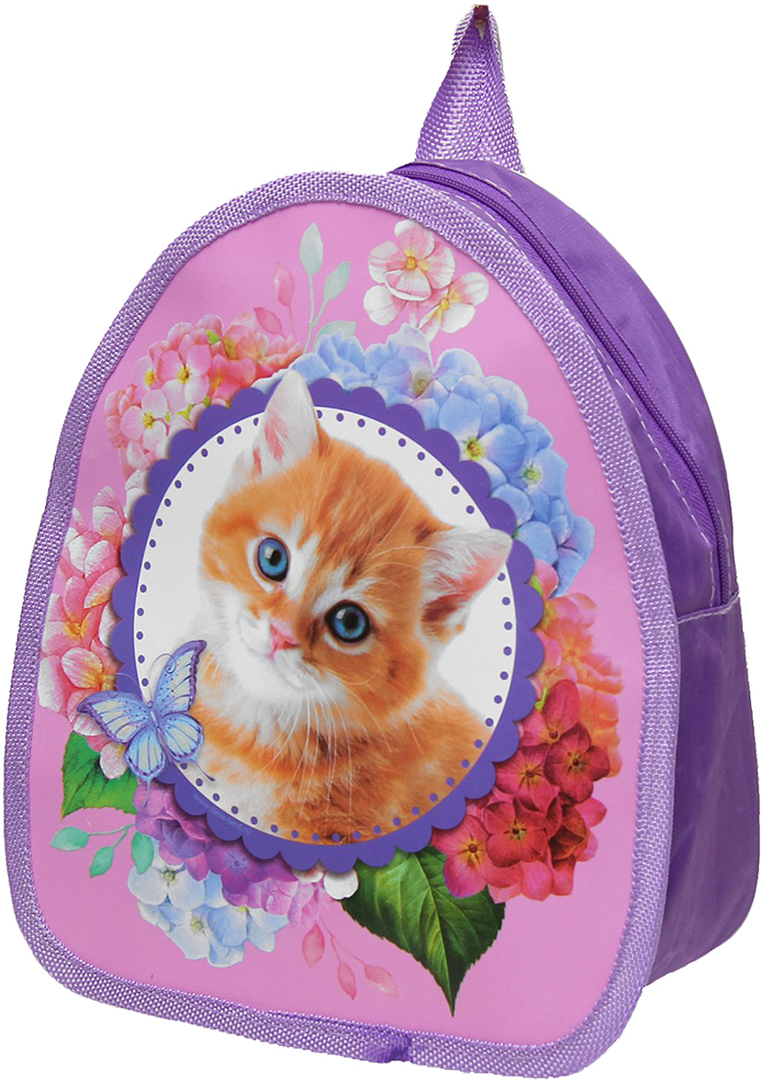Рюкзак детский Котенок цвет розовый 2626930
