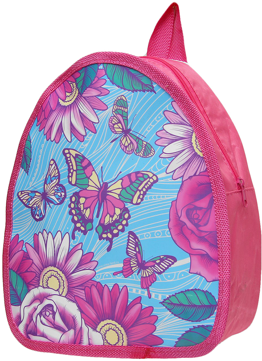 Рюкзак детский Бабочки цвет розовый 2626937