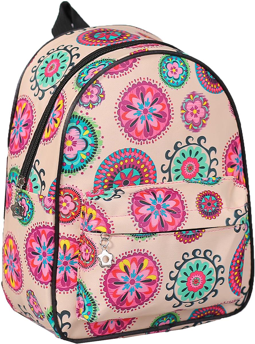 Рюкзак детский Орнамент цвет бежевый 2832966