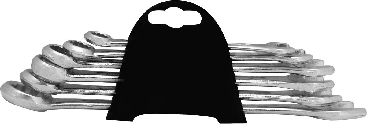 Набор комбинированных ключей Kroft, 6 предметов. 210106210106Набор комбинированных ключей оптимально подходит для домашнего использования и включает наиболее востребованные в быту размеры. Накидная часть позволяет прикладывать большие усилия за счет увеличенной площади соприкосновения. Рожковая часть удобна при работе в труднодоступных местах, где элемент крепления плотно прилегает к стенке или другой плоскости. Все ключи изготовлены из высокоуглеродистой инструментальной стали CS, обеспечивающей высокие эксплуатационные свойства. Размеры ключей: 8, 10, 12, 13, 14, 17 мм.