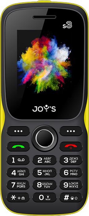 Мобильный телефон Joys S3 DS, черный, желтый телефон dect gigaset l410 устройство громкой связи