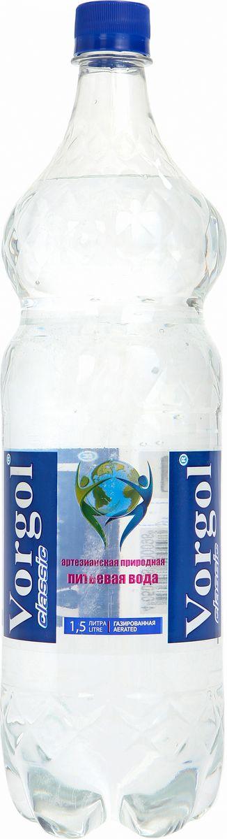 Воргол Вода питьевая природная газированная, 1,5 л