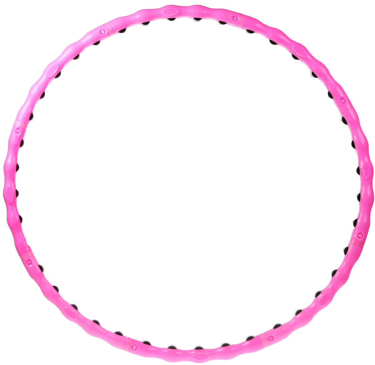 Обруч массажный Bradex, разборный, цвет: розовый пояс массажный с ик излучением bradex benice mini slimming