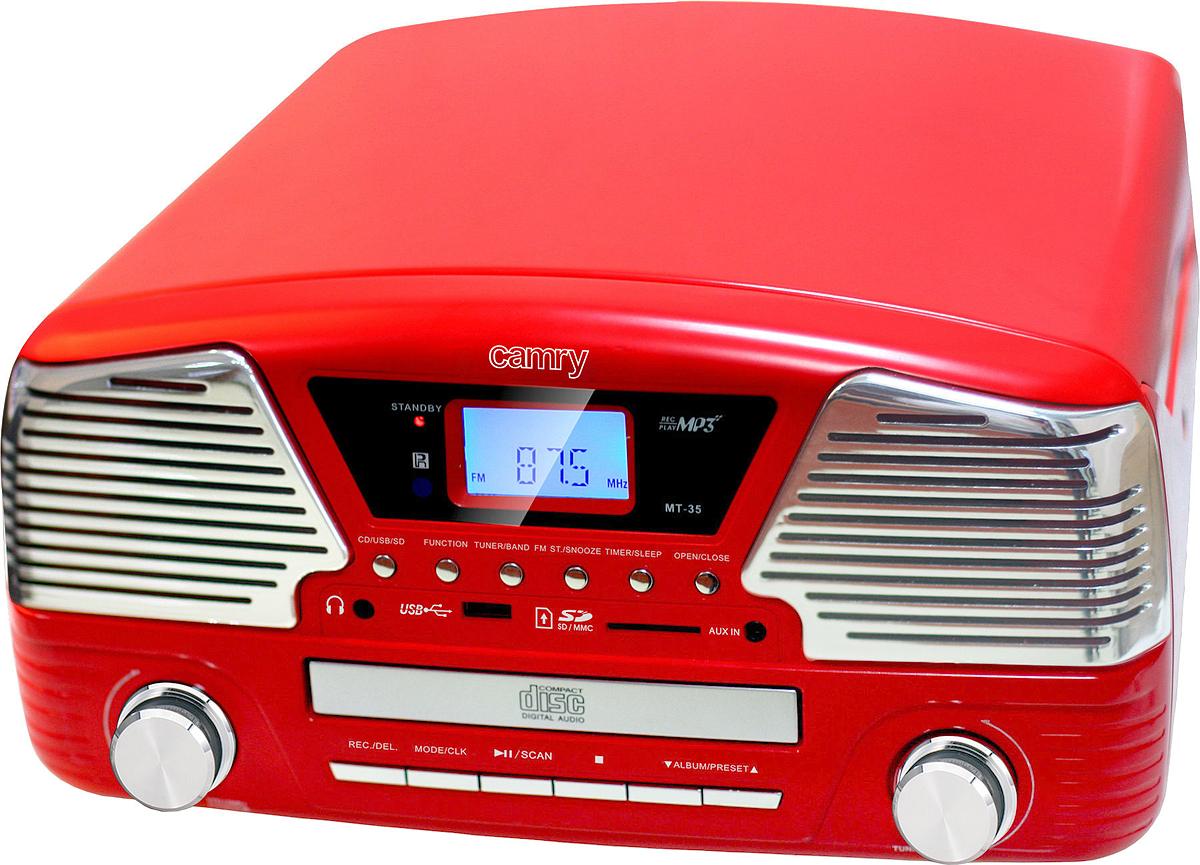 Проигрыватель виниловых дисков Camry CR1134, Red проигрыватель виниловых дисков reloop turn2 red