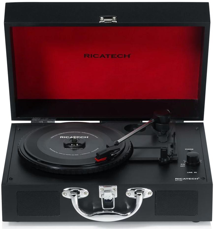 Проигрыватель виниловых дисков Ricatech RTT21, Black проигрыватель виниловых дисков reloop turn2 red
