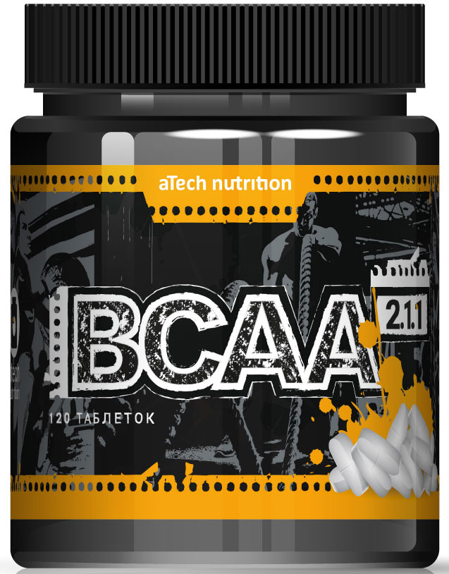 Комплекс аминокислотный aTech Nutrition BCAA 2:1:1, 4630019671951, 120 таблеток аминокислоты академия т bcaa 6000 спортамин 90 таблеток
