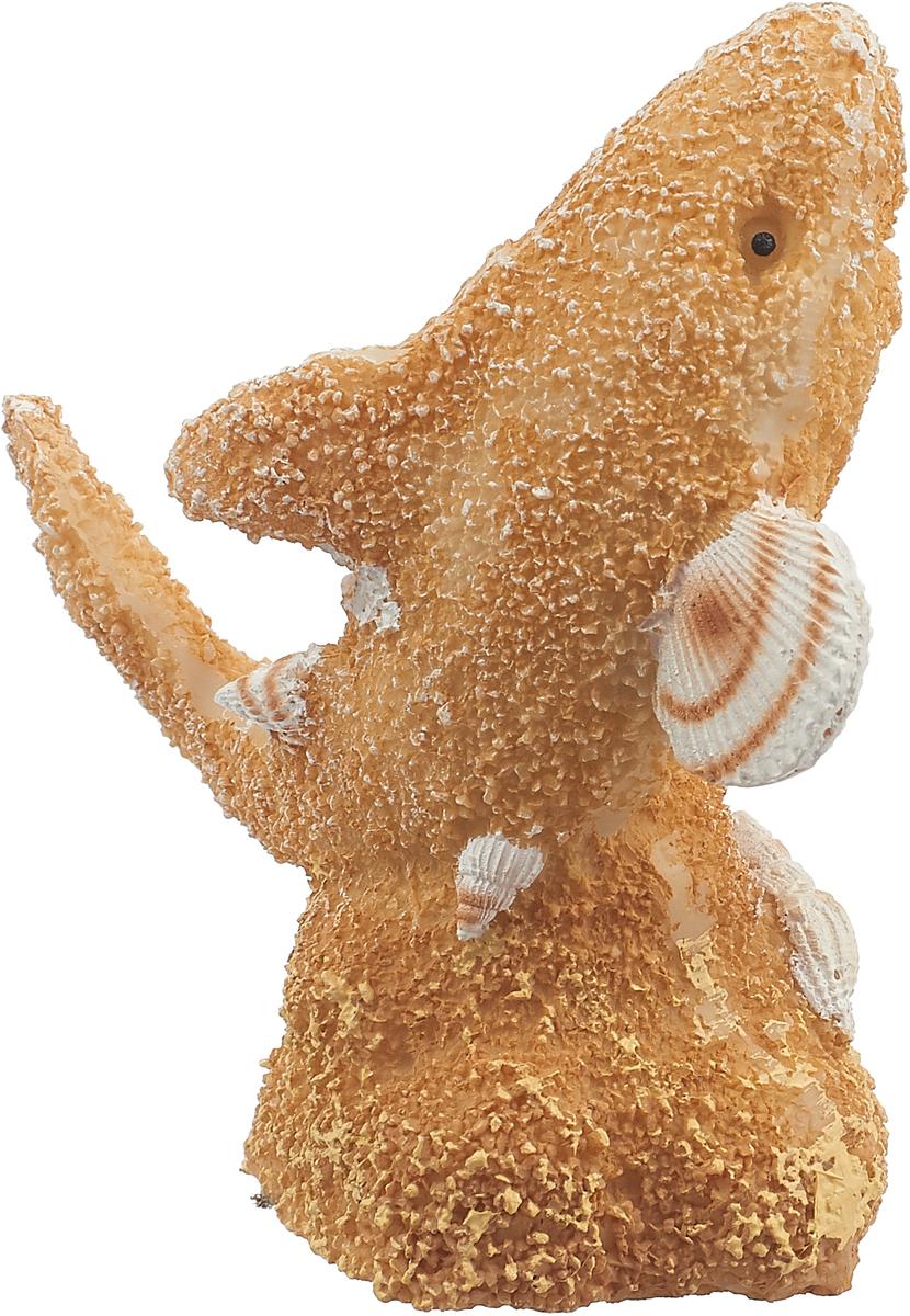 Декорация для аквариума Penn-Plax Акула из песка и ракушек, 10 см декорация для аквариума penn plax домик губки боба 14 см