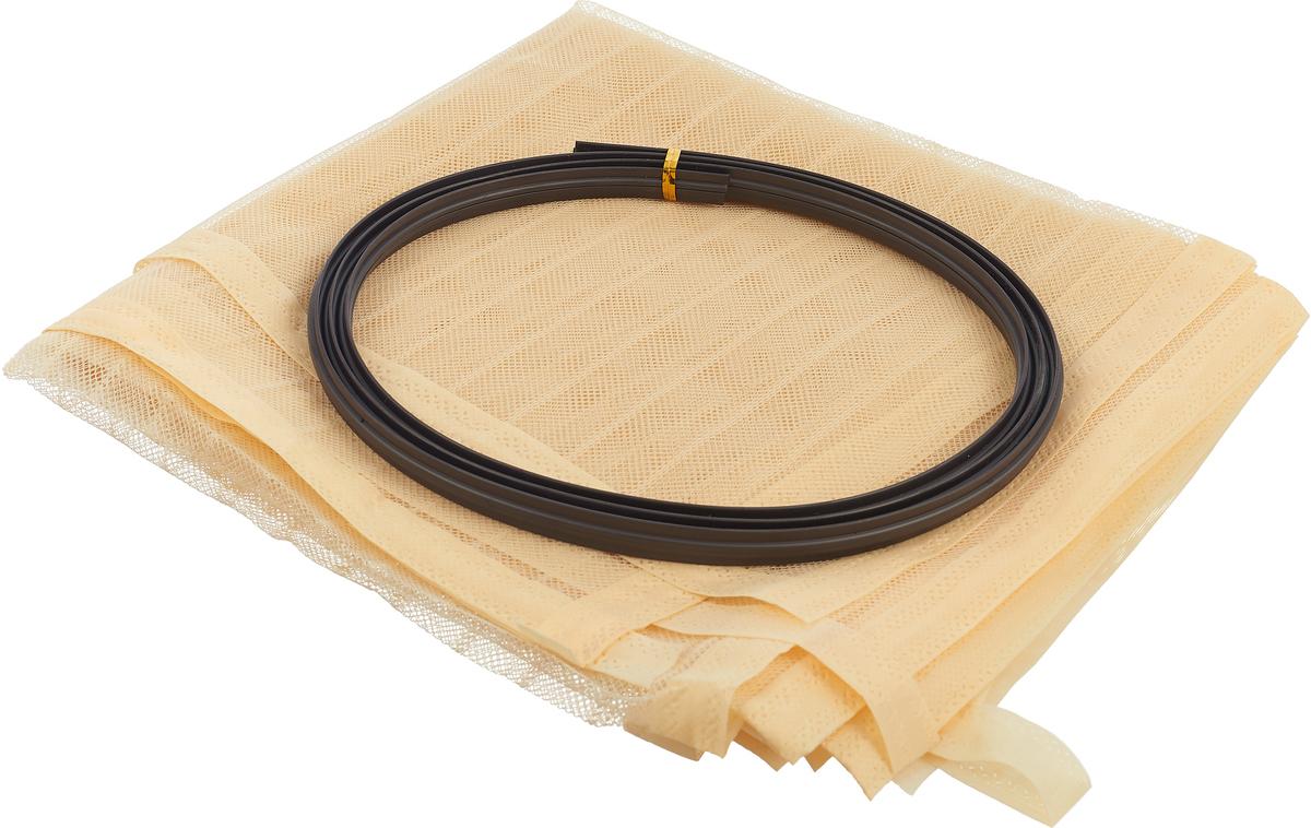 Сетка антимоскитная на дверь, с магнитами, цвет: кремовый, 100 х 210 см контейнер giaretti цвет кремовый прозрачный 29 2 х 17 х 11 см