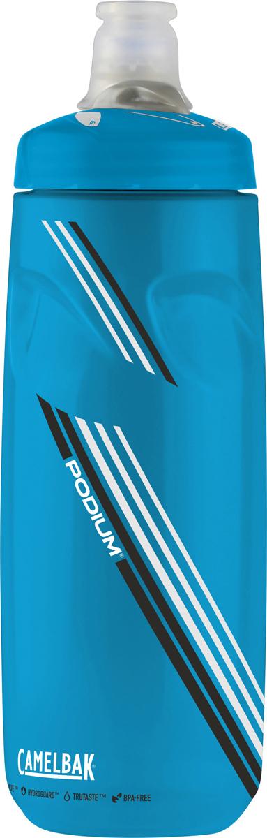 Бутылка Camelbak Podium, 710 мл. 5242852428Бутылка Camelbak изготовлена из полипропилена. Отличительные черты бутылки Camelbak: - уникальный состав HYDROGUARD, замедляющий рост бактерий, - не влияет на вкус и запах, - мягкий корпус - легко сжимать, - стерильное производство - можно купить и сразу заправить водой! Изделие оснащено уникальным клапаном из медицинского силикона с регулировкой подачи воды.