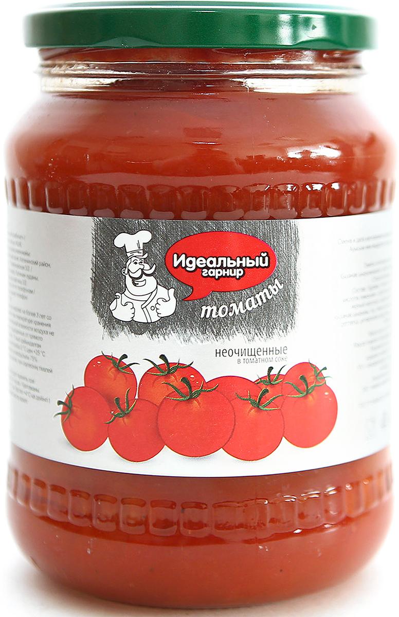 Идеальный гарнир Томаты неочищенные в томатном соке, 700 мл