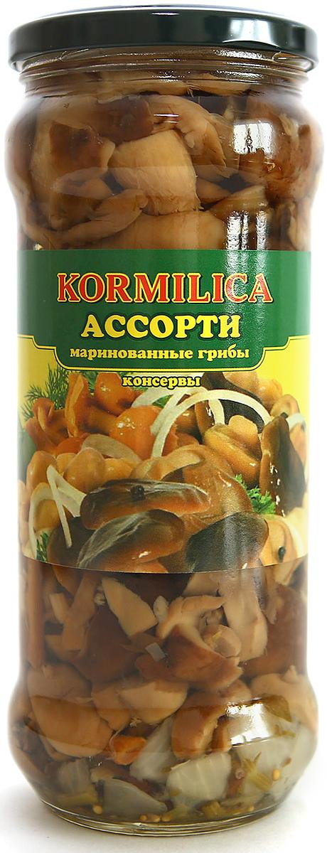 Кормилица Грибное ассорти из маринованных грибов, 580 мл юрышева яна сотникова т блюда из грибов