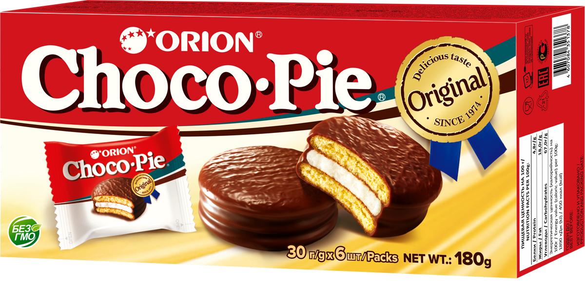 Orion ChocoPie пирожное, 180 г
