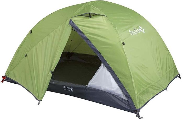 Палатка Red Fox Fox Comfort 3-4, 4-х местная, цвет: зеленый