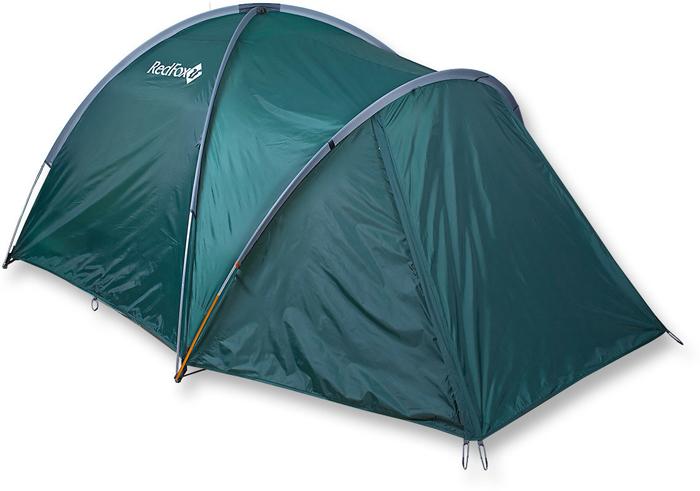Палатка Red Fox Challenger 3 Plus V2, 3-х местная, цвет: зеленый