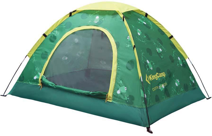 Палатка туристическая King Camp 3034 Dome Junior, цвет: зеленый
