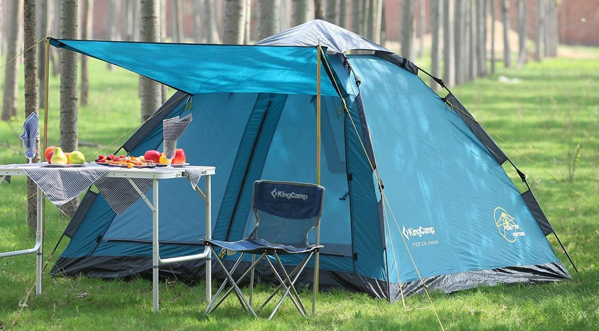 Палатка-автомат туристическая King Camp 3092 Monza Mono, цвет: голубой