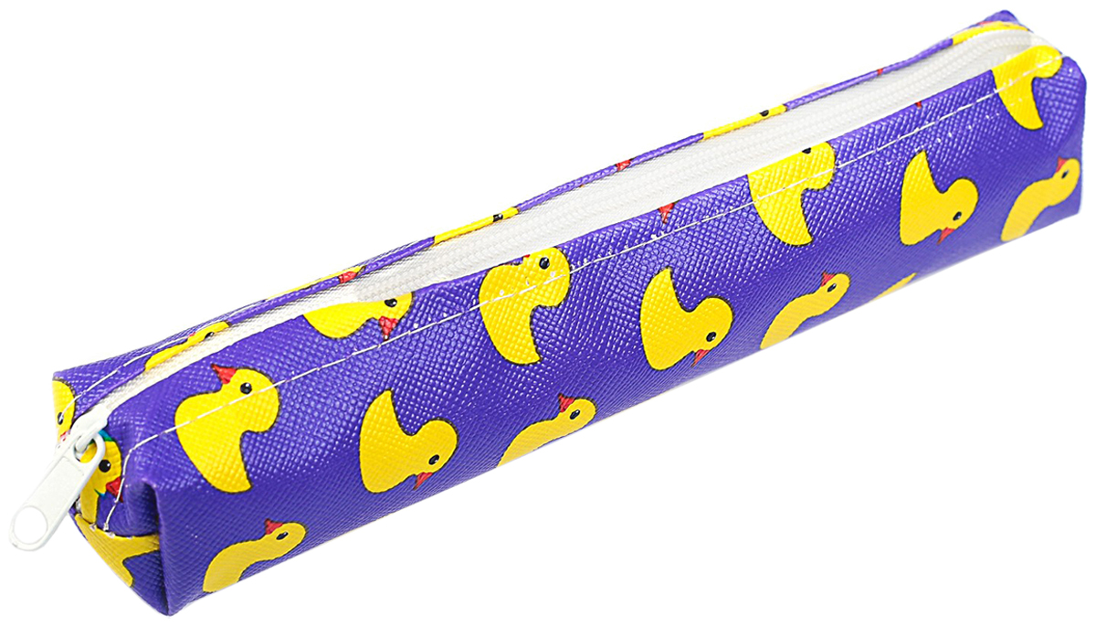Calligrata Пенал школьный Уточки цвет фиолетовый