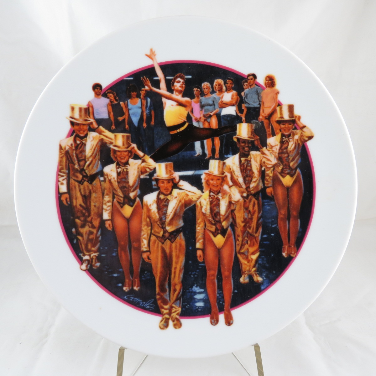 Декоративная коллекционная тарелка Эйвон. Изображения Голливуда: Кардебалет, Фарфор, деколь. США, AVON. EMBASY. 1985 avon