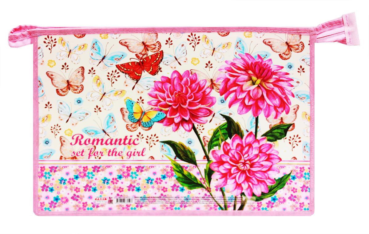 цены Prof Press Папка для тетрадей на молнии Романтичные цветы формат A4