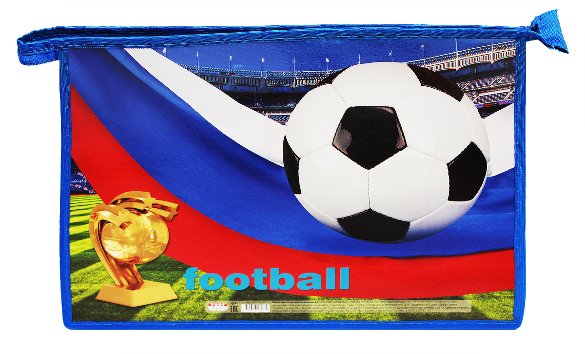 цена на Prof Press Папка для тетрадей на молнии Российский футбол формат A4