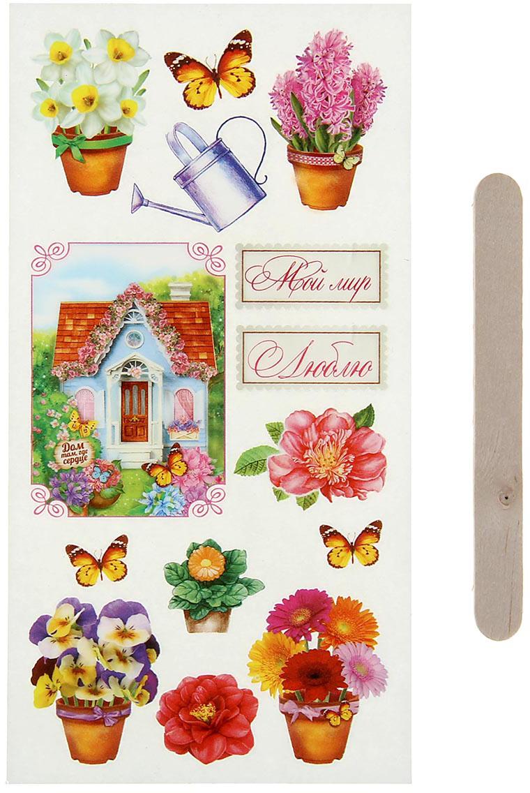 Арт Узор Набор наклеек для творчества Летний сад 1046043