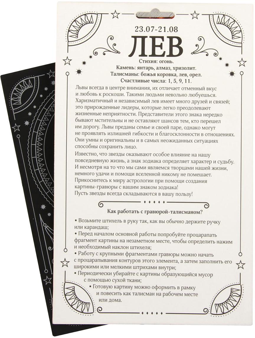 Школа талантов Набор для создания гравюры Лев 2108214 Школа талантов