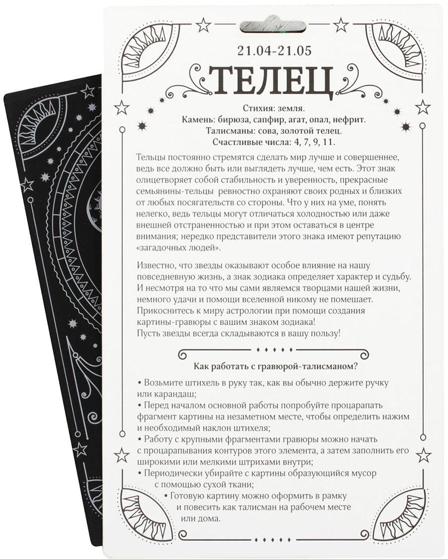 Школа талантов Набор для создания гравюры Телец 2108220 Школа талантов