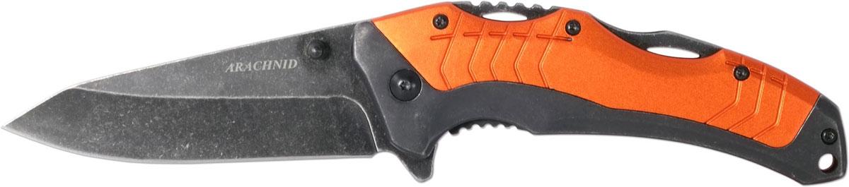 Нож автоматический Ножемир Четкий расклад. Arachnid, цвет: оранжевый, длина лезвия 7,9 см нож охотничий ножемир длина клинка 12 2 см