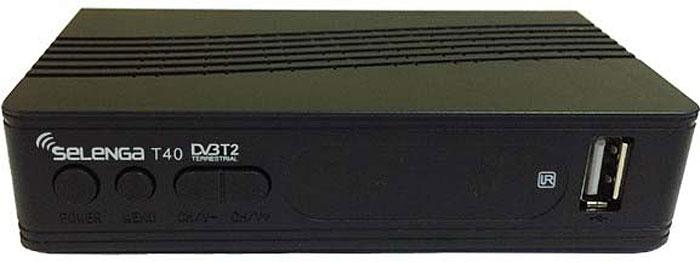 ТВ ресивер SelengaТ40, Black пульт ду selenga 2171 пульт для тюнеров т40 t60