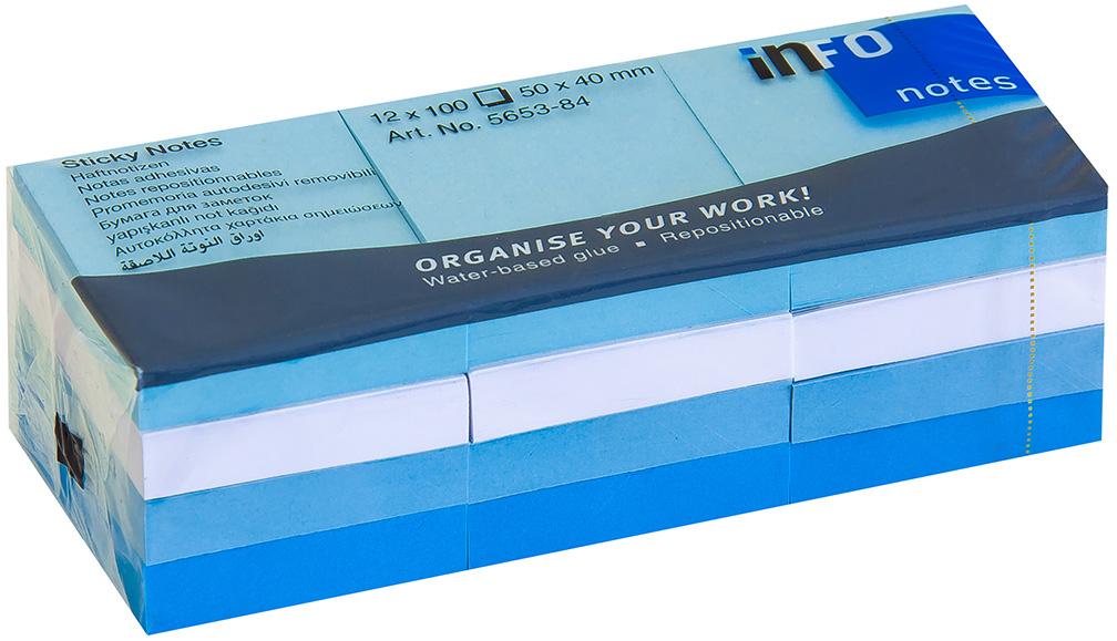 Info Notes Бумага для заметок Aрктика 50 х 40 12 шт 100 листов server info