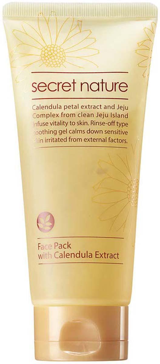 Secret Nature Face Pack With Calendula Extract Смягчающая маска для лица с лепестками календулы, 130 мл маска д лица zeal nature