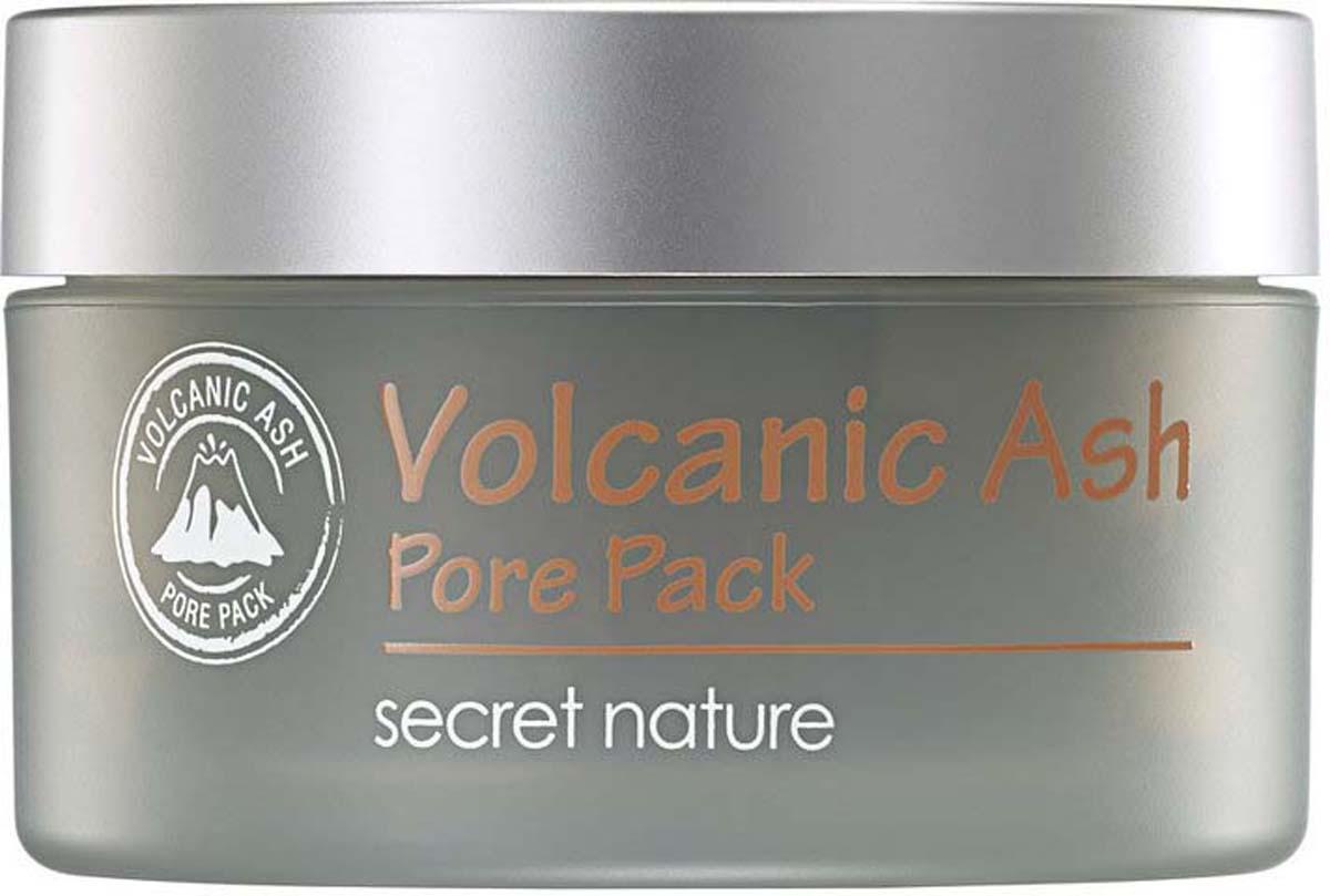 Secret Nature Volcanic Ash Pore Pack Очищающая маска для лица с вулканическим пеплом, 100 мл secret nature volcanic ash cleansing water очищающая вода с вулканическим пеплом 300 мл
