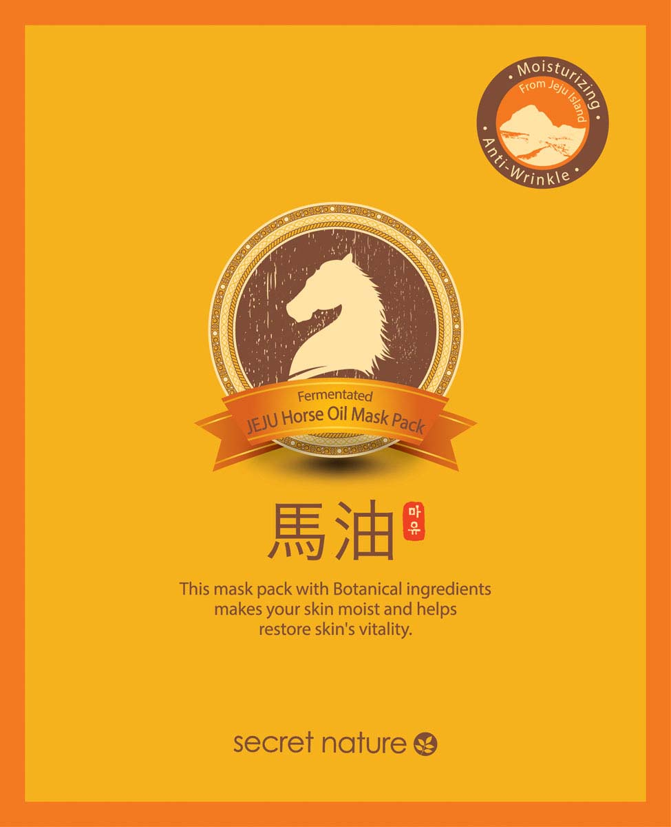 Secret Nature Fermentated Jeju Horse Oil Mask Pack Разглаживающая маска для лица с конским жиром, 20 мл маска д лица zeal nature