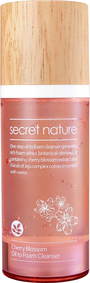 все цены на Secret Nature Cherry Blossom Oil to Foam Cleanser Гидрофильное масло-пенка для умывания с вишней, 100 мл онлайн