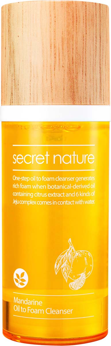 Secret Nature Mandarine Oil to Foam Cleanser Гидрофильное масло-пенка с мандарином, 100 мл недорго, оригинальная цена