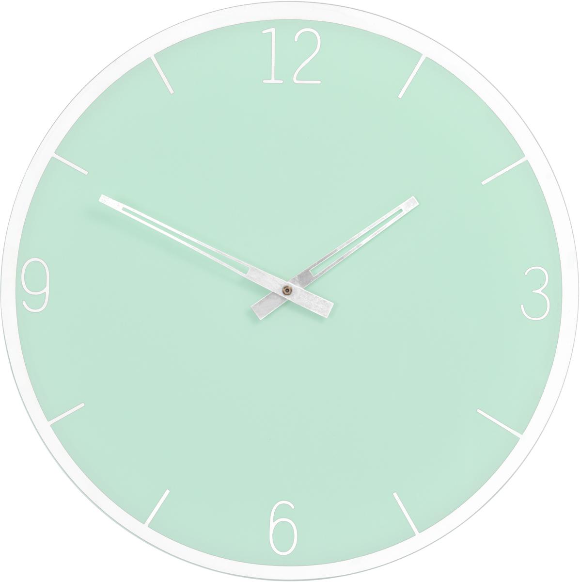 Часы настенные Innova W09654, цвет: зеленый, диаметр 35 см часы настенные innova w09656 цвет белый диаметр 35 см