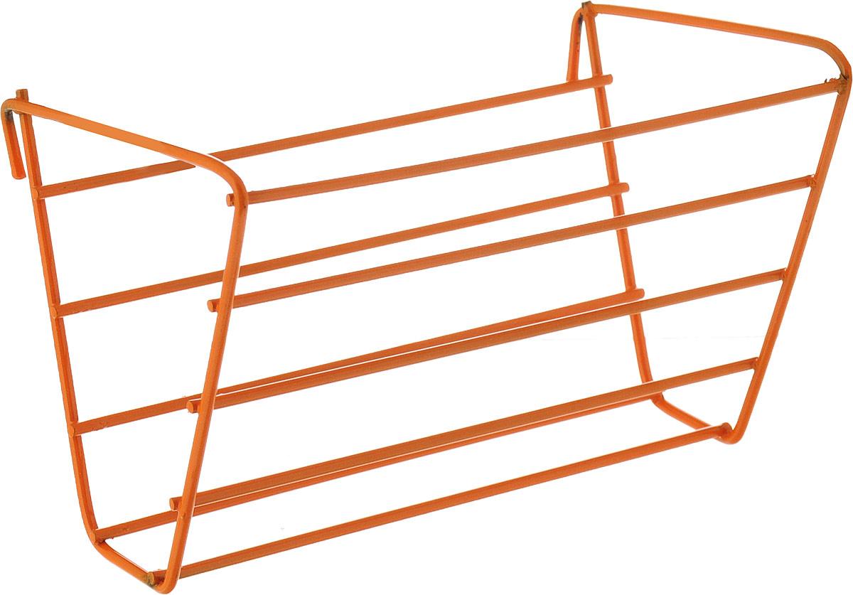 Держатель для сена ЗооМарк, цвет: оранжевый, 14,5 х 9,5 х 9 см. 801 держатель для книг 14 х 9 х 22 см