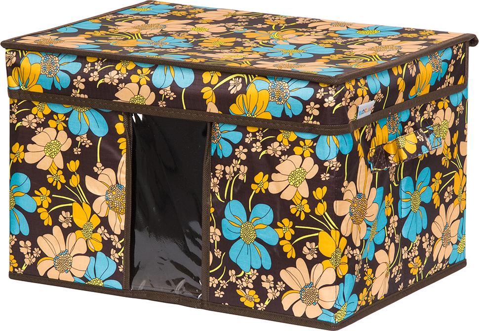 Кофр для хранения вещей EL Casa Ромашковое поле, складной, 40 х 30 х 25 см кофр для хранения вещей el casa сияние лета складной 40 х 30 х 25 см