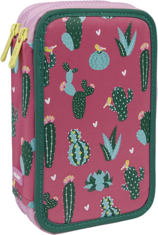 Milan Пенал Cactus с наполнением цвет розовый темно-зеленый milan точилка 20127240