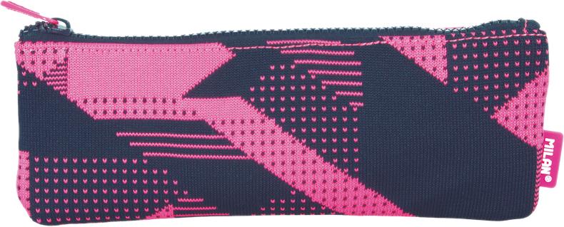 Milan Пенал-косметичка Knit цвет черный розовый пенал milan flowers blue 081130fwb 259010