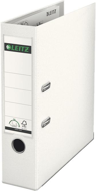 Leitz Папка-регистратор 180° обложка 80 мм цвет белый10101201PВысококачественная папка-регистратор для профессионального использования в офисе. Долговечные материалы и уникальный запатентованный механизм с раскрытием рычага на 180°: раскрытие на 50% шире, заполнение на 20% быстрее. Высокопрочное полипропиленовое покрытие и оклейка ламинированной бумагой изнутри для продления срока службы.